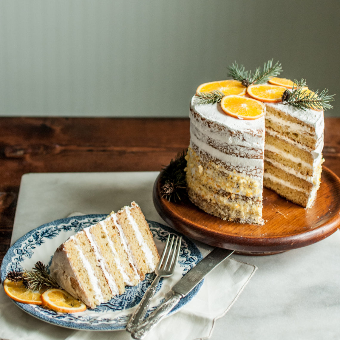 Awesome recipe for a buttery, not-to-sweet orange layer cake that is loaded with flavor. I paired it with a simple whipped cream for icing, and orange marmalade for filling. A true delight and perfect for a wedding cake to, so elegant!