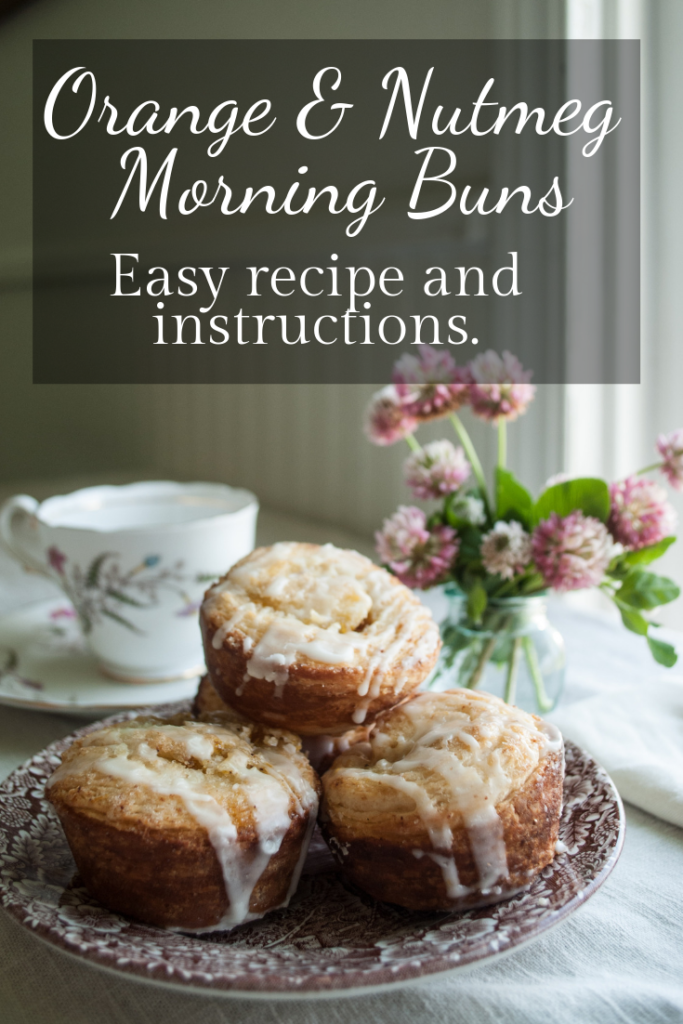 Delightful rich yet zest breakfast morning buns, with a quick and easy croissant dough. Printable Recipe!