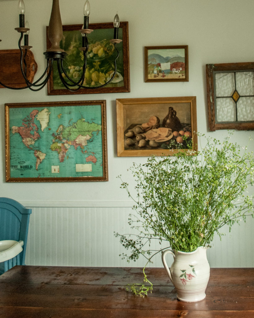 Cozy-ing up the Cottage: Why I'm not really a minimalist.  Cottage Decor, Vintage Decorating, Decluttering, Cozy Minimalism, Simple Living, Homekeeping with Kids