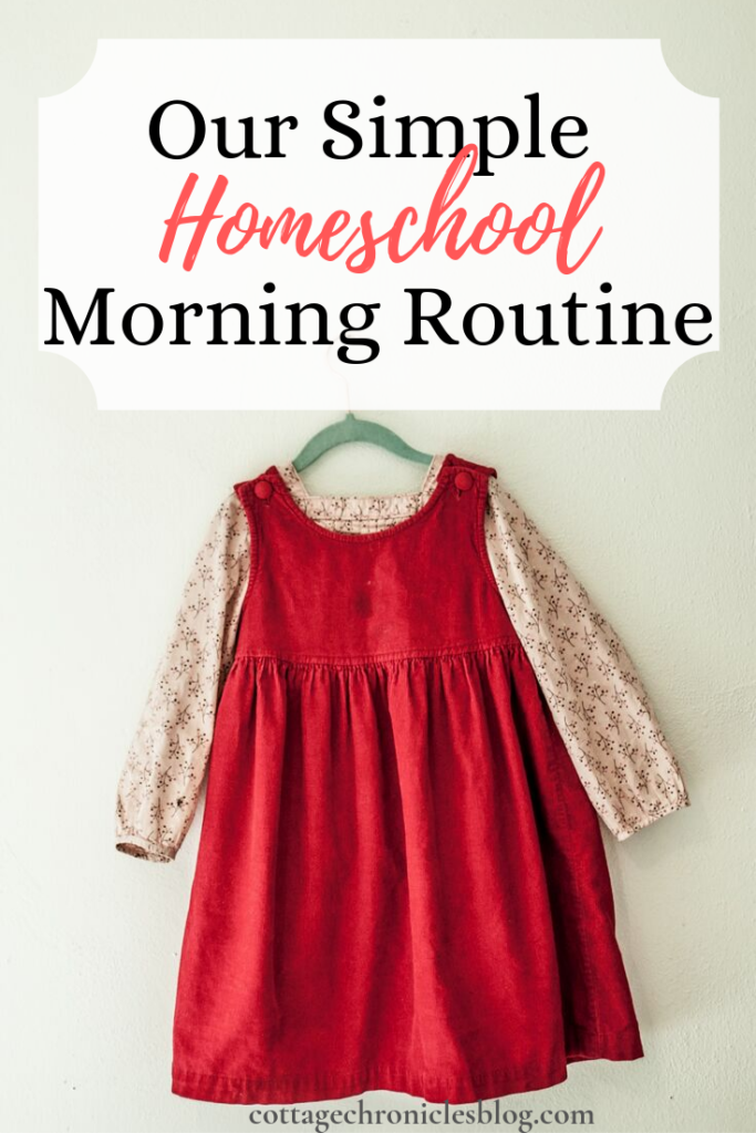 Morning Routine with FREE printable.  Homeschool family with little kids, tips for new homeschool moms and busy moms.