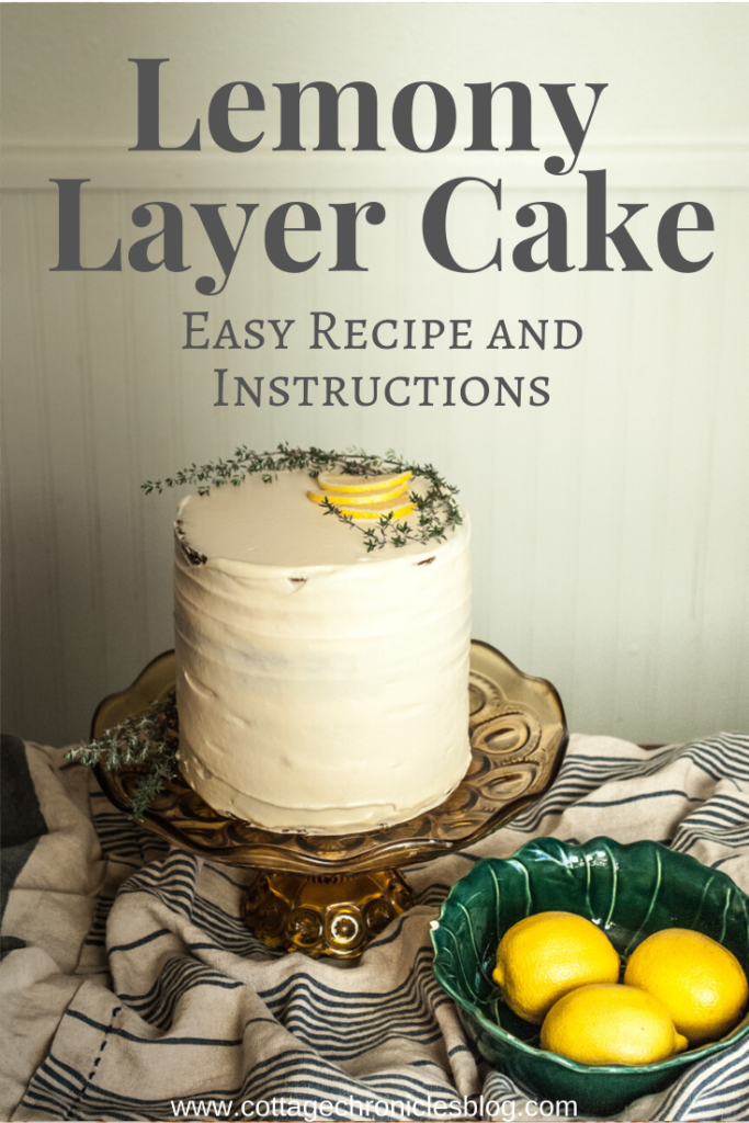 Lemon Sour Cream Layer Cake Recipe. An easy recipe that includes an optional creme fraiche filling, and a lemon curd icing.