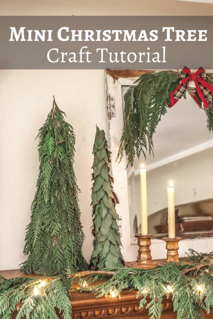 Handmade DIY Greenery Mini Christmas Tree. Christmas Crafts Tutorial.
