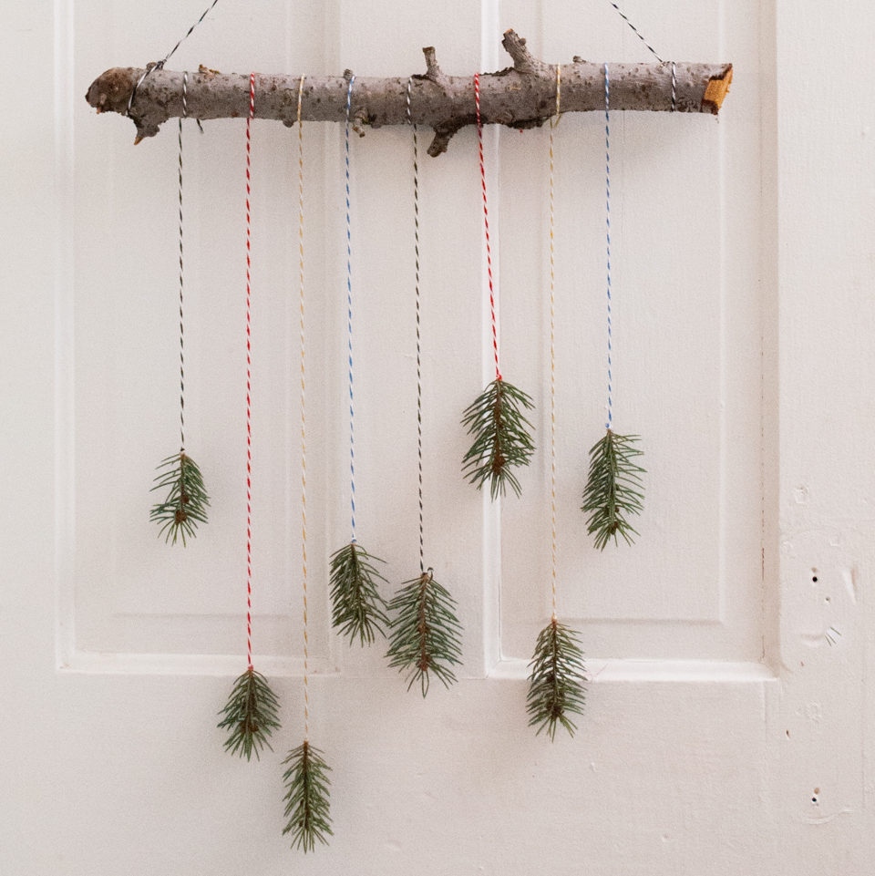 Easy Mini Christmas Tree Mobile Decoration. Handmade DIY Christmas Crafts Tutorial.