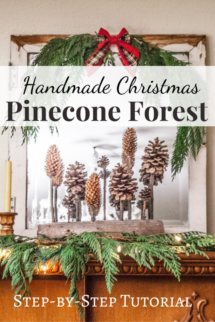 Pinecone Christmas Sculpture Decor, DIY Handmade Christmas Crafts Series