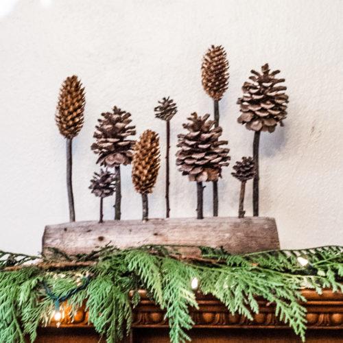 Pinecone Christmas Sculpture Decor, DIY Handmade Christmas Crafts Series