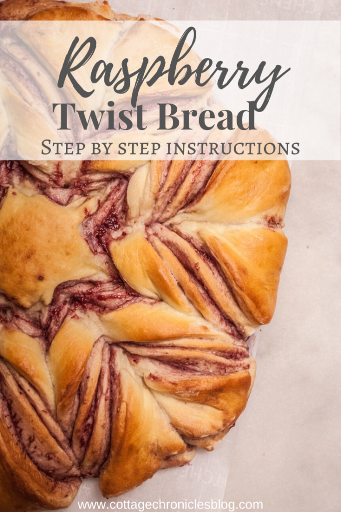 Easy Bread Recipe for Winter Baking! Raspberry Twist Bread, step-by-step instructions for simple but impressive holiday bread!