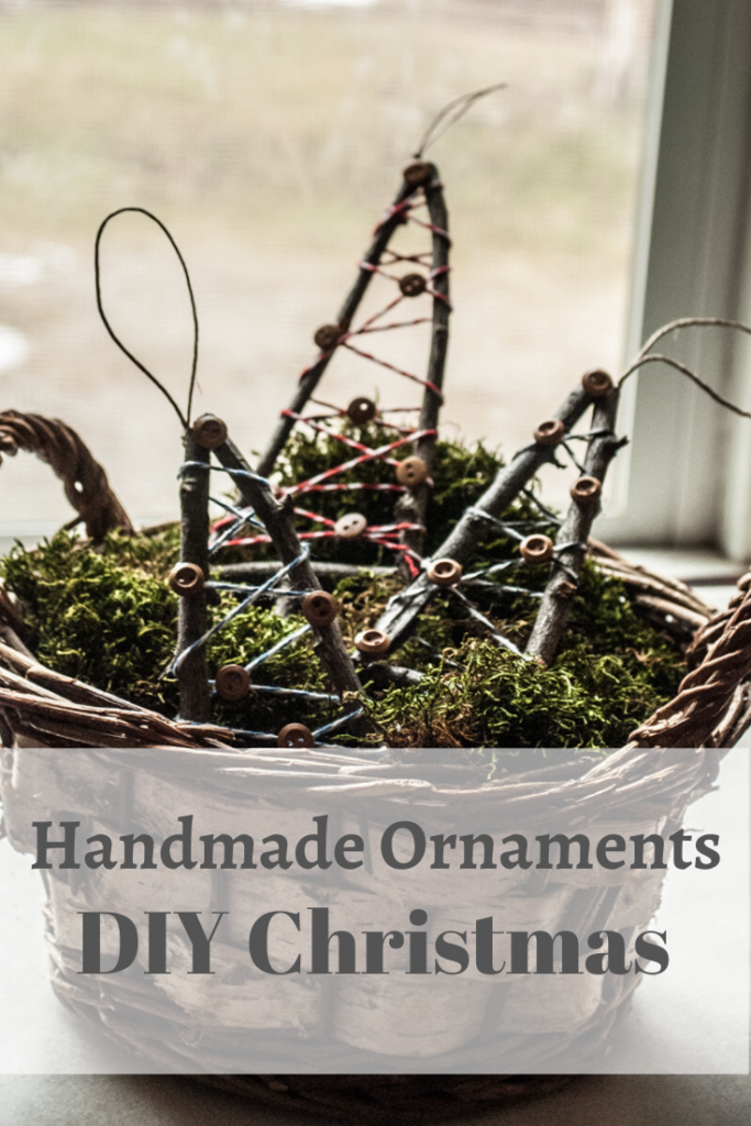 Rustic Little Tree Ornament. Step by step instructions for a simple, easy crafted decoration. Handmade DIY Christmas Crafts Tutorial.
