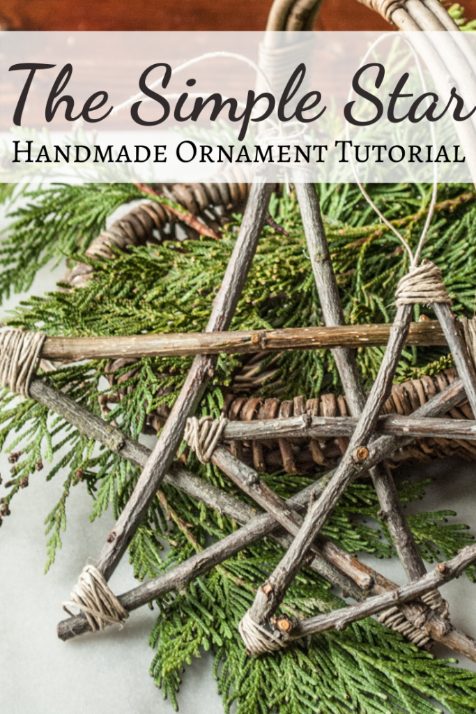 Handmade DIY Easy Stick Star Ornament. Christmas Crafts Tutorial.