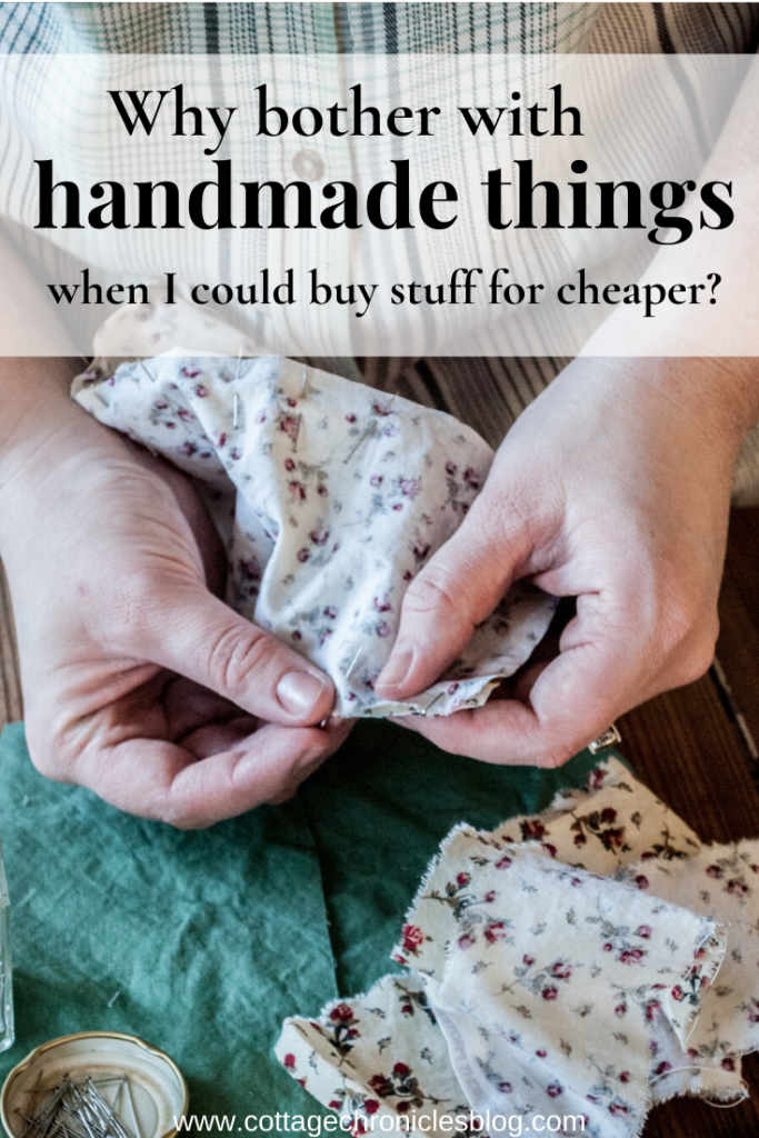 The art of handmade crafted goods is surging back! Why? Sewing, knitting, painting and creating isn't faster or cheaper. Thoughts on the return of the handmade.