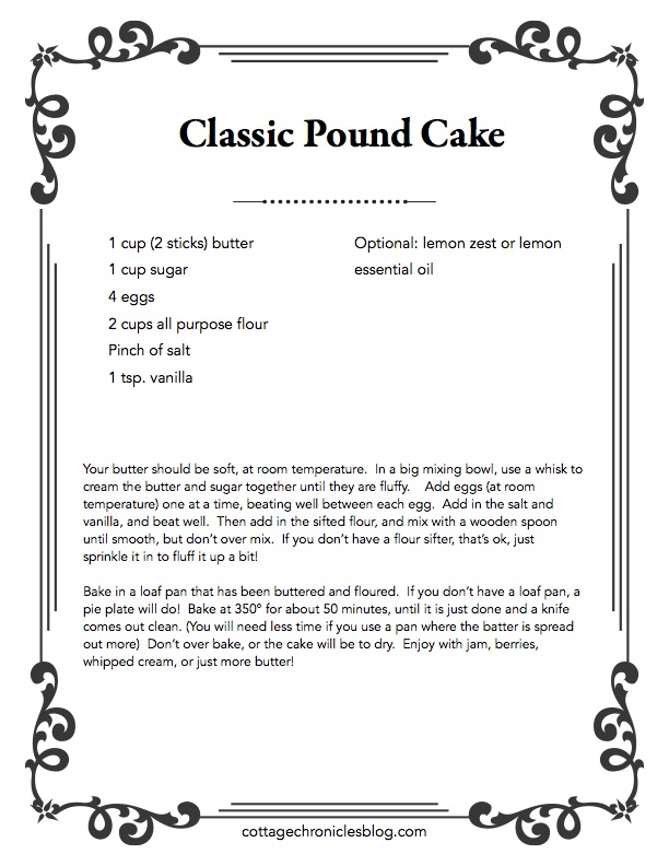 Classic Pound Cake Recipe, perfect for baking with kids. This cake is just right for breakfast, brunch or teatime! Its also an Easter Baking Classic. Super easy, no fail recipe!