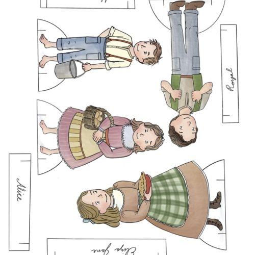 Almanzo Wilder Family Paper Dolls Collection. Ready to print in full color, or color your own at home. Printable paper dolls and crafts for homeschool or hours of fun anytime.