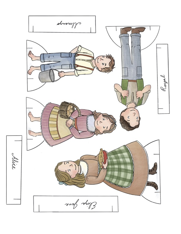 """Farmer Boy"" Almanzo Wilder Little House on the Prairie SeriesPaper Dolls Collection. Ready to print in full color, or color your own at home. Printable paper dolls and crafts for homeschool or hours of fun anytime."