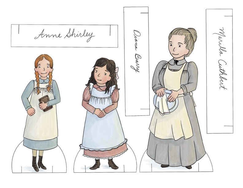 Anne of Green Gables Printable Paper Dolls! Perfect for play, homeschool, literature study, or easy printable crafts.