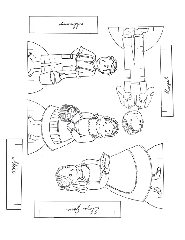 """""""Farmer Boy"""" Almanzo Wilder Little House on the Prairie SeriesPaper Dolls Collection. Ready to print in full color, or color your own at home. Printable paper dolls and crafts for homeschool or hours of fun anytime."""