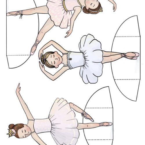 Ballerina Printable Paper Dolls
