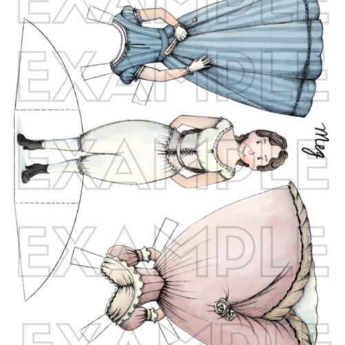Instant Download and Print these charming paper dolls from Cottage Chronicles. Includes all four sisters with changes of clothing, as well as Marmee, Laurie and Mr. Bhaer. Printable paper dolls for digital download.