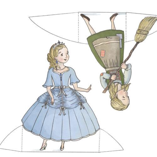 Cinderella Printable Paper Dolls Instant Download