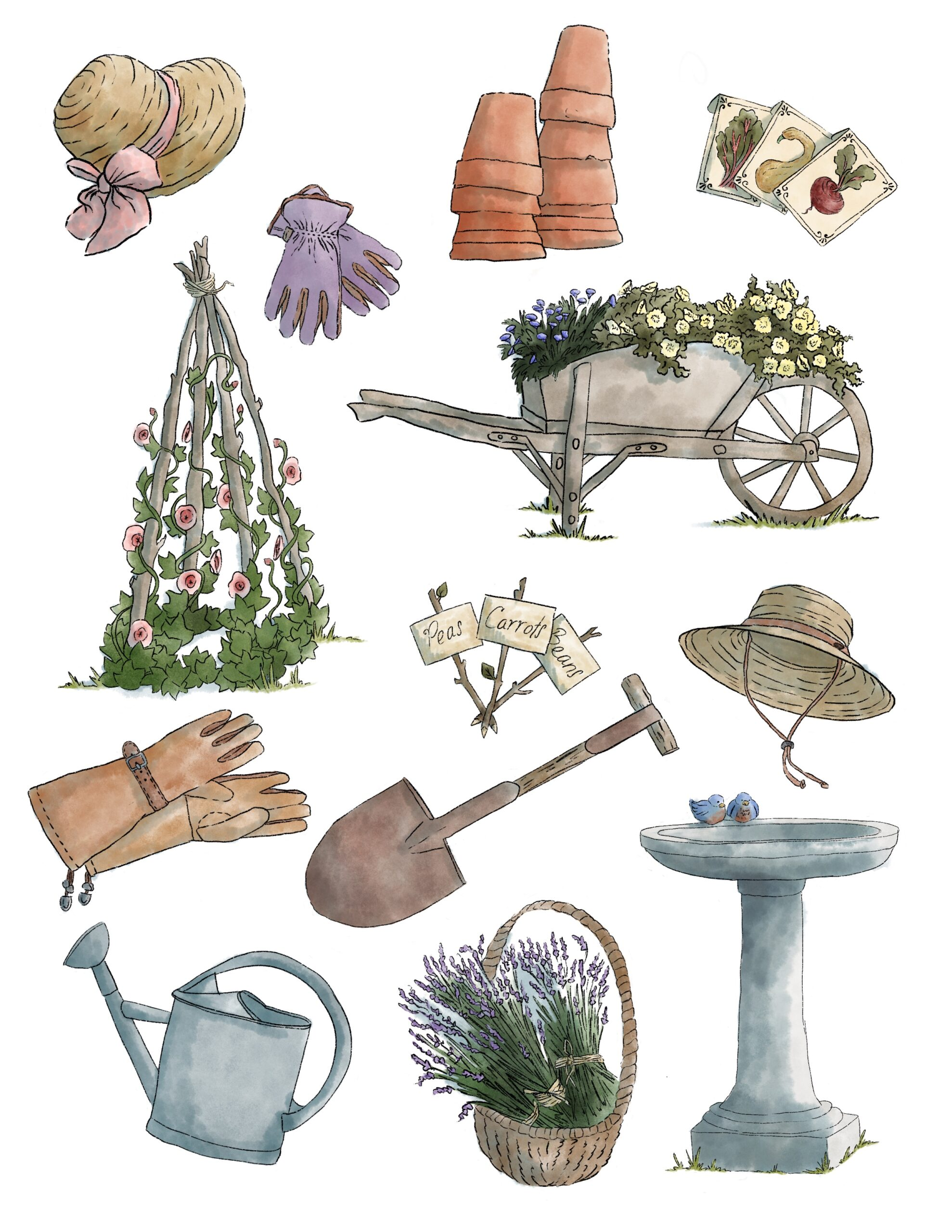 FREE Garden Things Printable Stickers